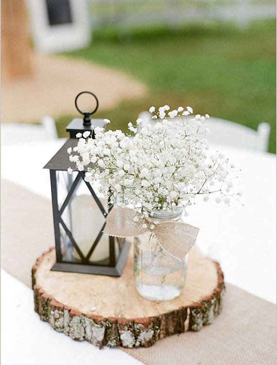 Lantern with Baby's Breath