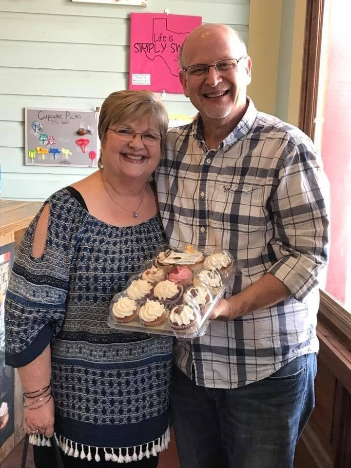 Couple With Cupcakes