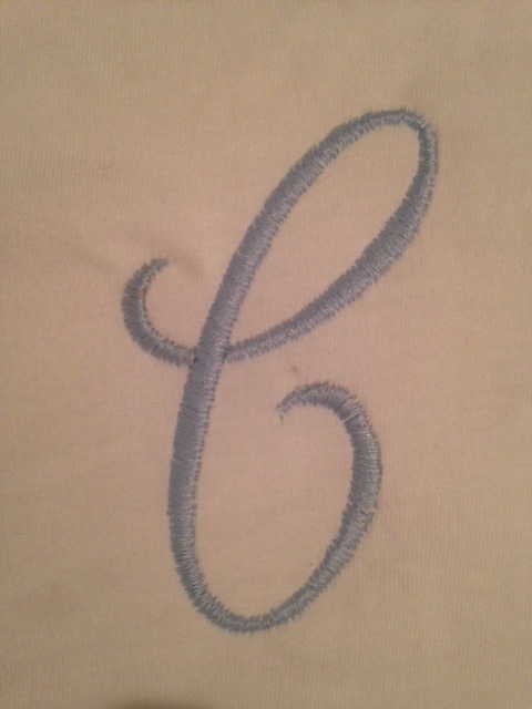 "Embroidered ""C"""