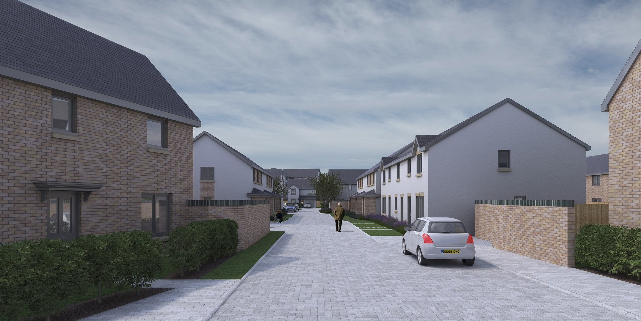 Street view within the development