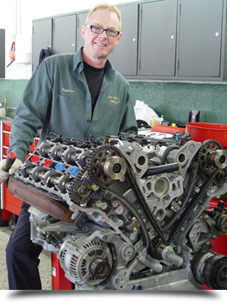 Man doing engine repair||||