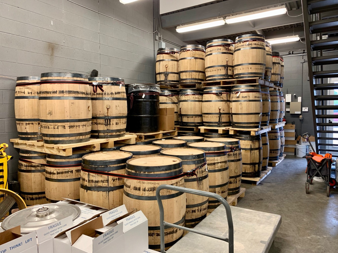 Nashville Craft Distillery - Barrel Aging Area