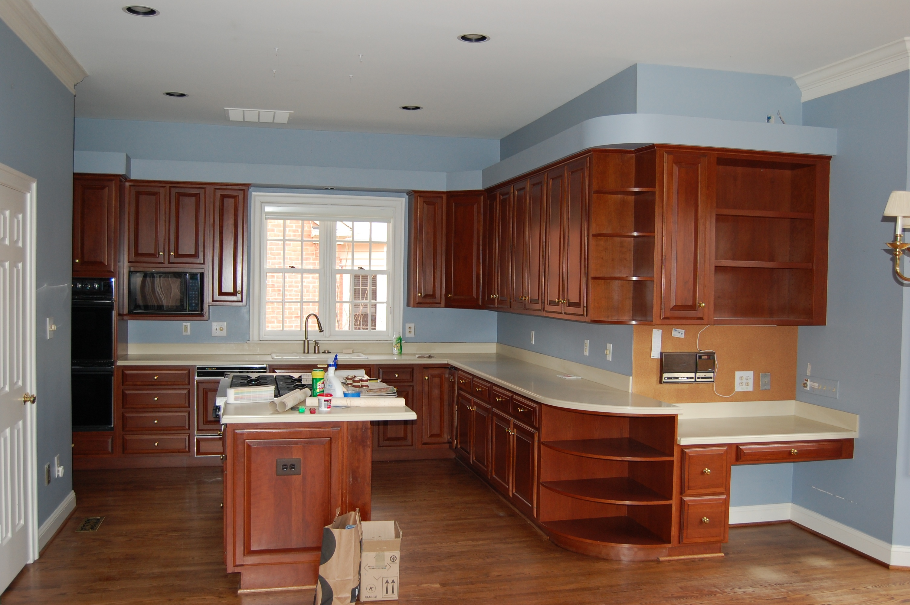 kitchen remodel before E