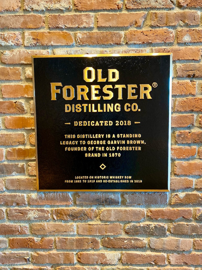 Old Forester Distillery Plaque