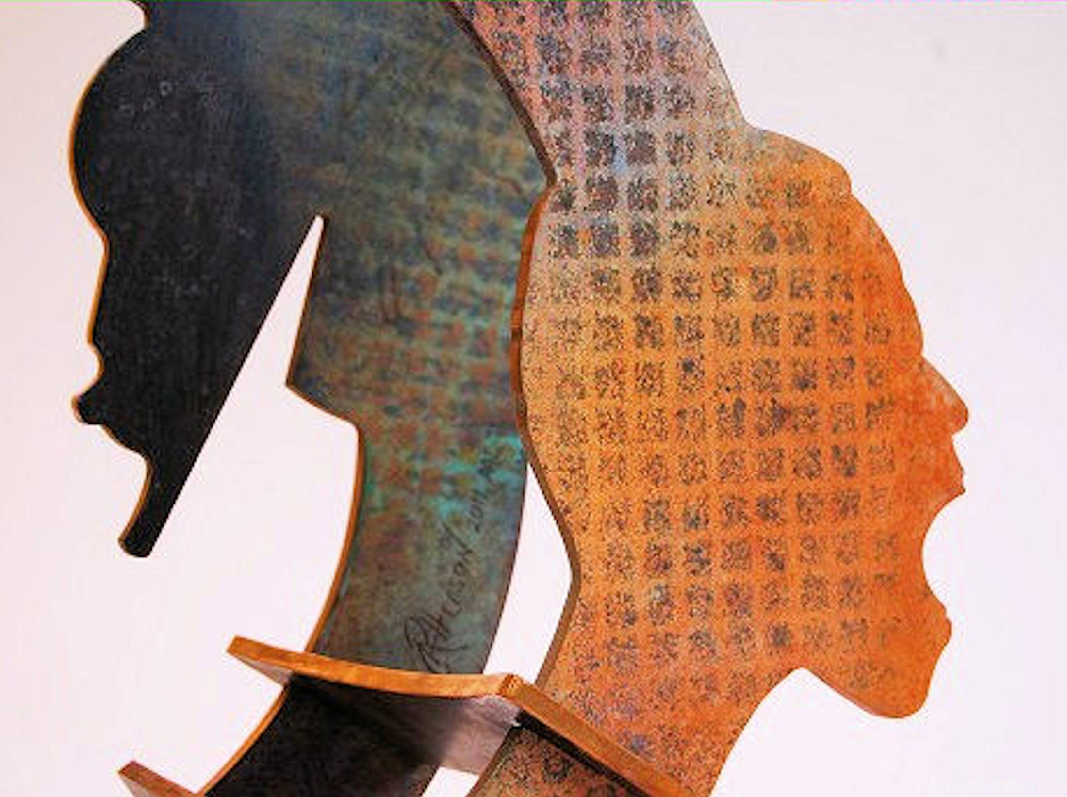 Say It Loud (Detail) - 2011, Fabricated Bronze with Patina