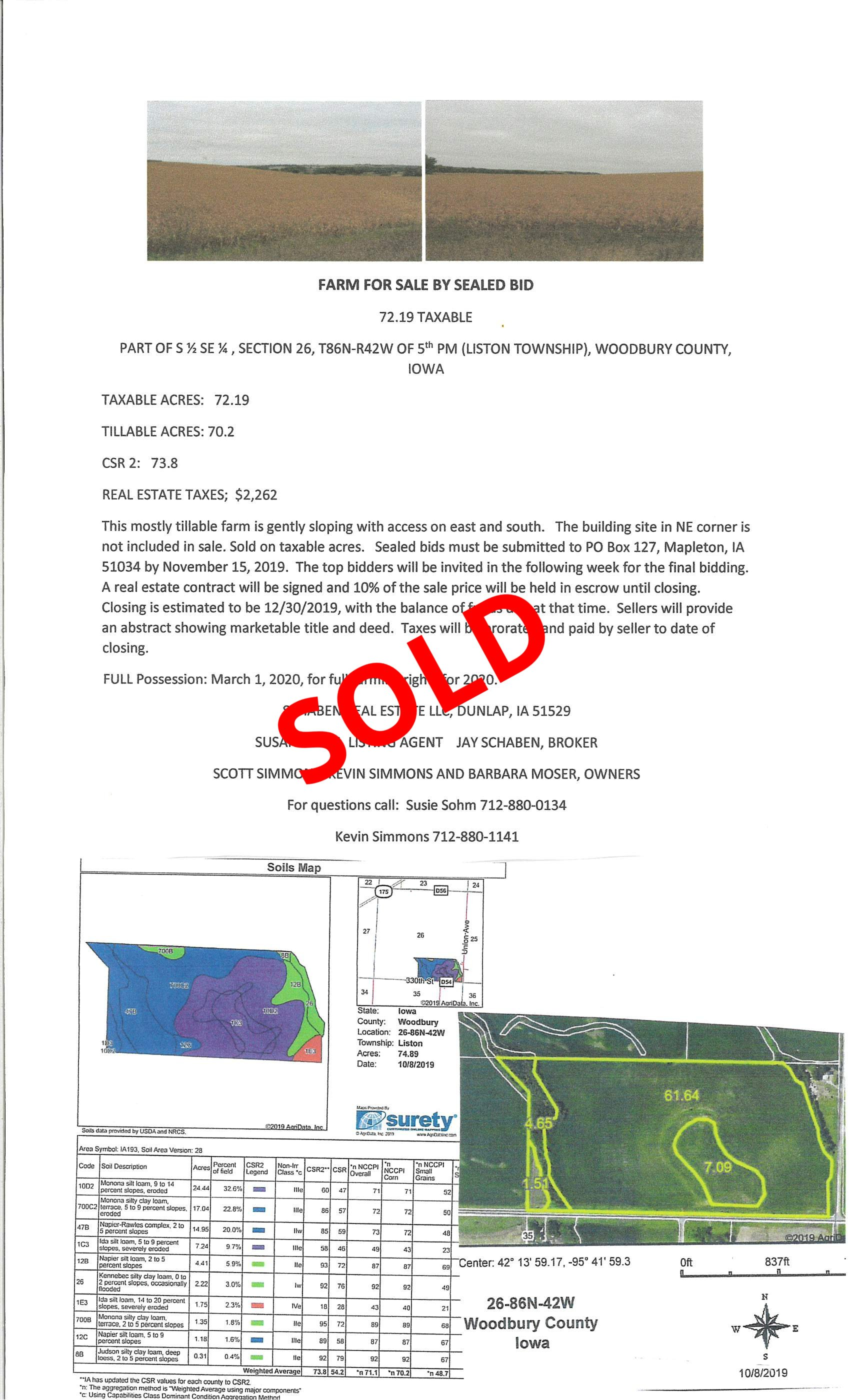Simmons Land Auction by Sealed Bid