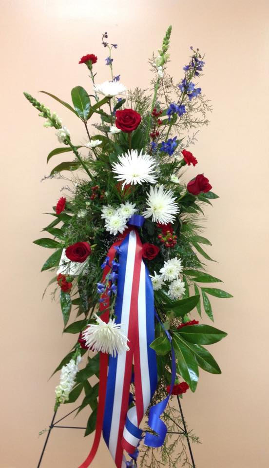 Fresh Flower Standing Spray Patriotic