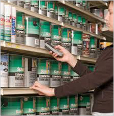 Taking inventory of paint cans||||
