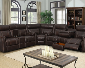 7303 Sectional Sofa, Love Seat and Wedge