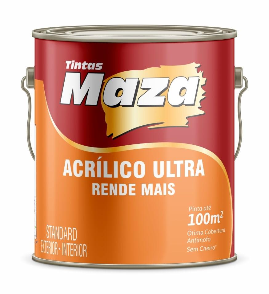 TINTA ACRÍLICA FOSCA  RENDE MAIS MAZA BRANCO GELO PALHA