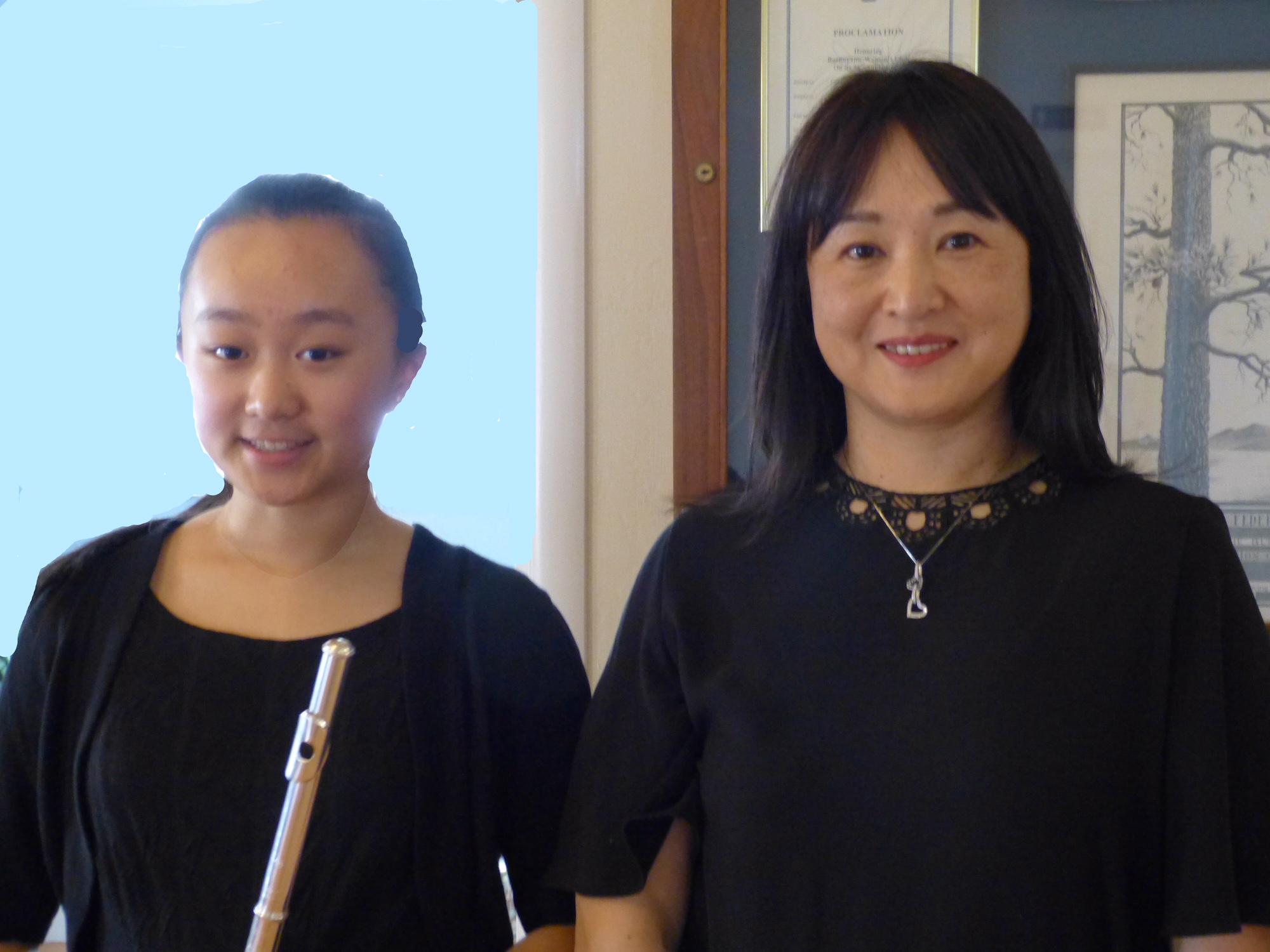 Annie Ping and her accompanist, Hiroko Mizuno