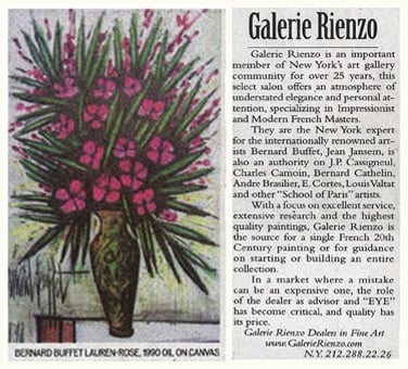Article About GALERIE RIENZO