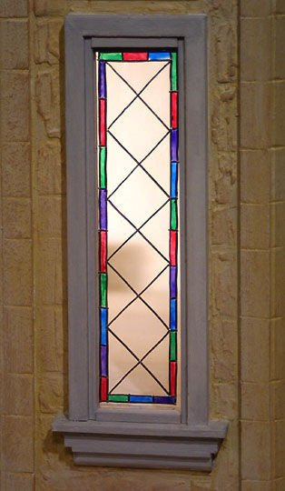 Leaded and stained glass windows  hand made by Sue Veeder