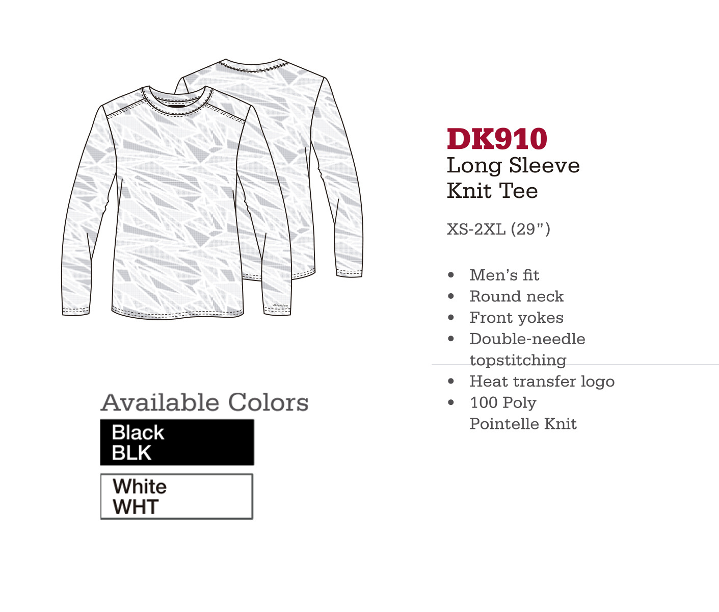 Camisa de Punto de Manga Larga. DK910.
