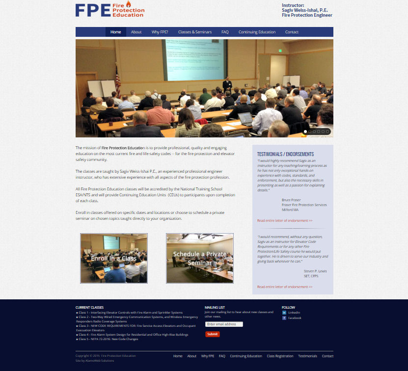 Fire Protection Education Website