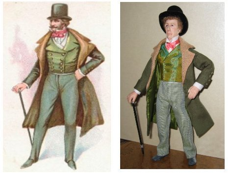 12TH SCALE MALE DOLL DRESSED TO MATCH PICTURE SUPPLIED