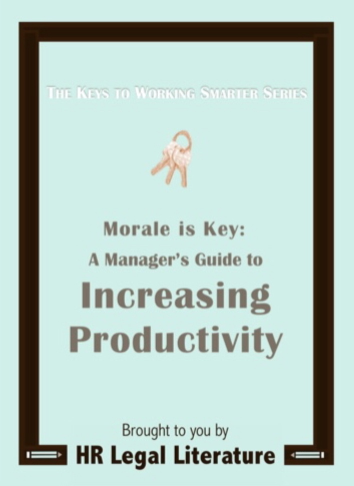Human Resources, Manager Guide, Productivity, Employee Morale, HR e-book