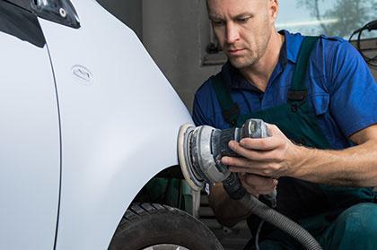 Sharpen A Car Varnish In The Car Shop