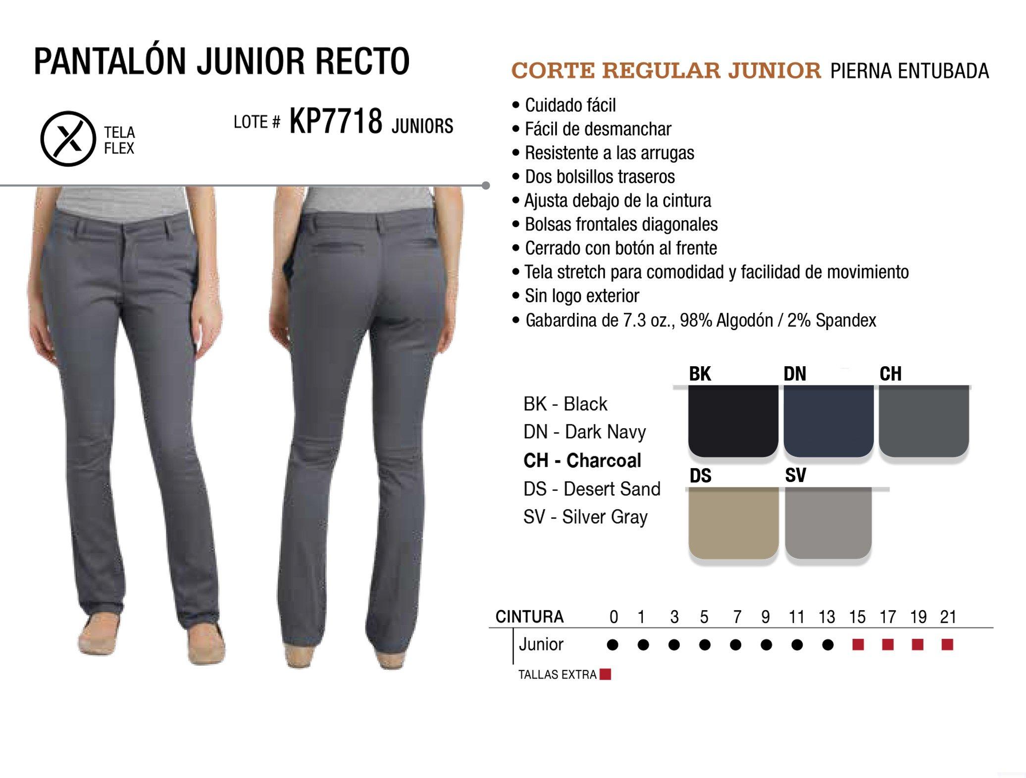 Patalón Junior Recto. Corte Regular. KP7718.