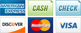 We accept American Express, Cash, Checks, Discover, MasterCard and Visa.||||