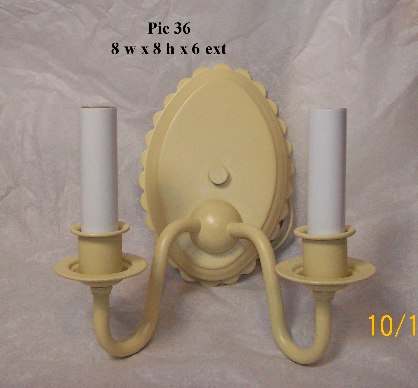 Scallop Oval 2 lt Sconce