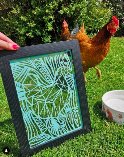 Chicken Paper Cut Art