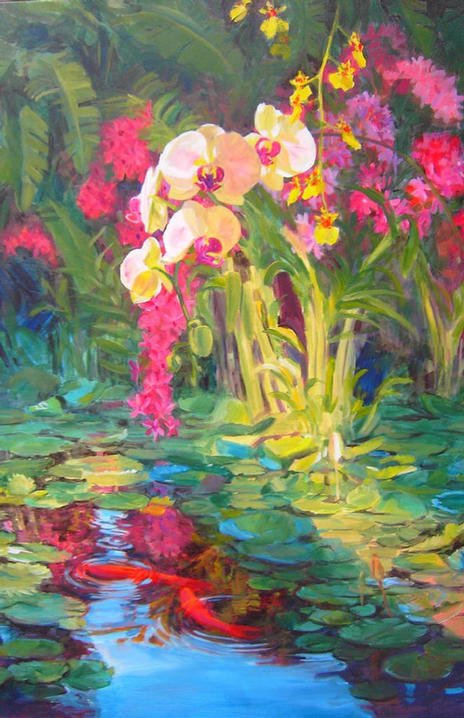 Orchids in Last Light 36x24