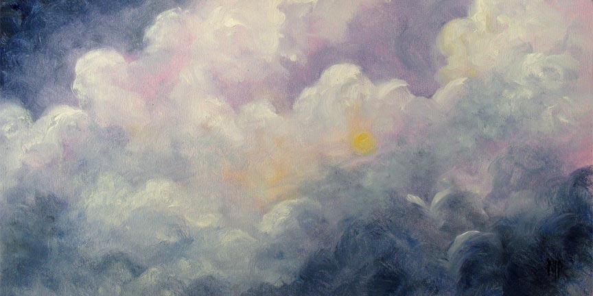 """Toward Heaven - 6""""x12"""" Oil on Panel  SOLD"""