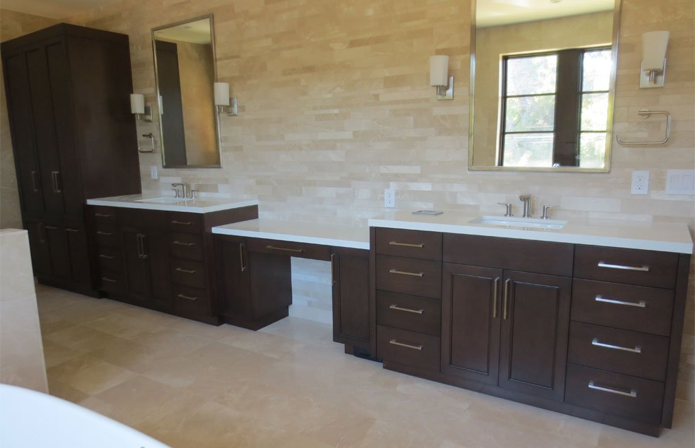 Large Wooden Bathroom Cabinets