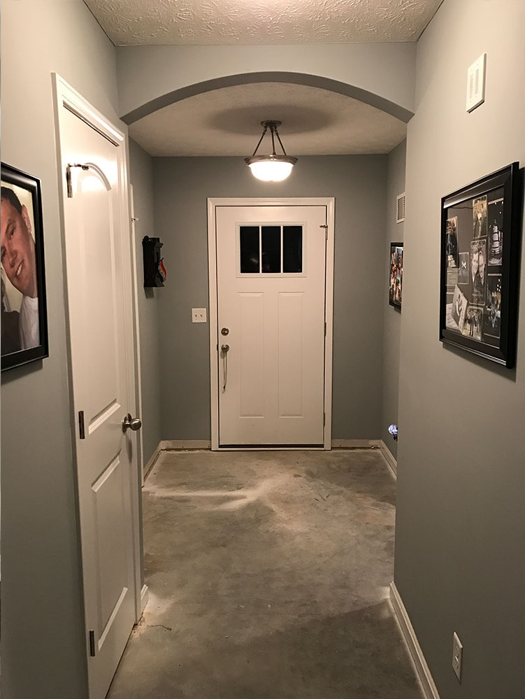 Before Foyer Flooring Remodel
