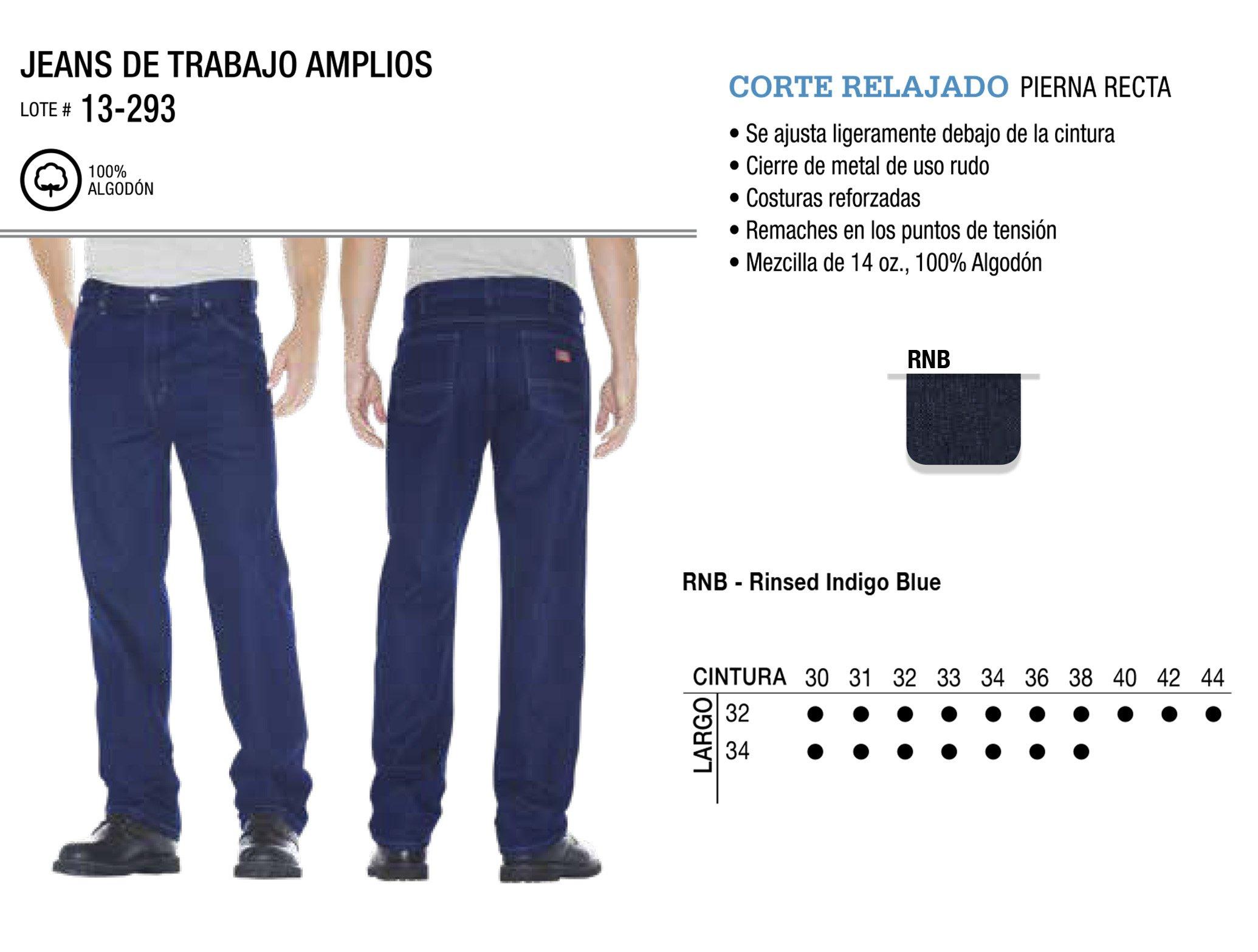 Jeans de Trabajo Amplios. Corte Relajado. 13-293.
