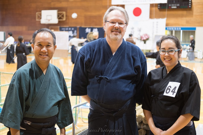 Three members of Kenshinkan Dojo in attendance - Jay, Vivian and Tex.