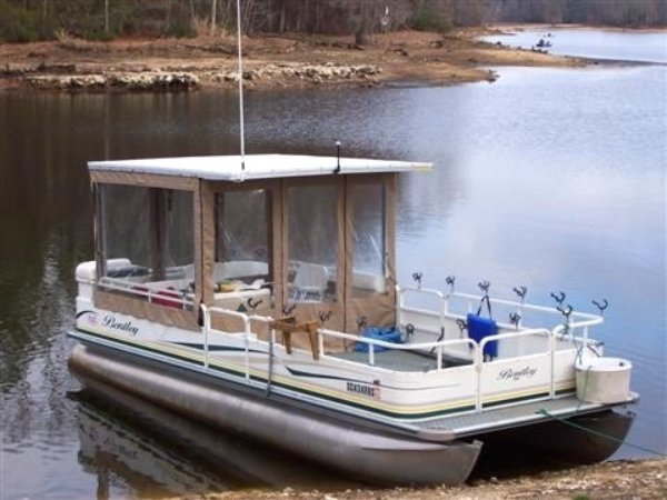Boat used for fishing charters on santee cooper for catfish and stripers