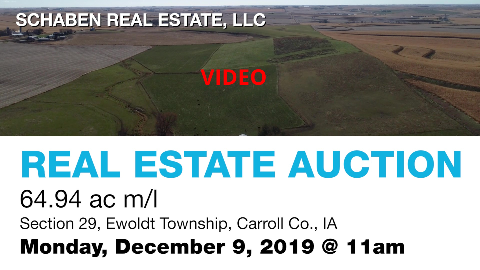 Click on picture of a video of the land to be auctioned.