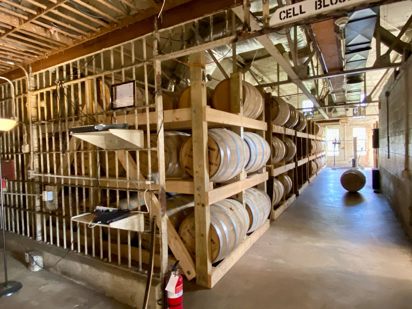 Inside the Rickhouse - Southern Grace Distilleries (Whiskey Prison)