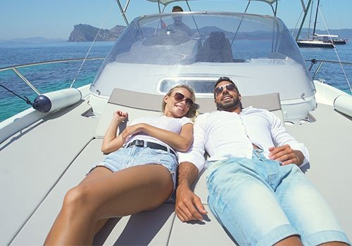 Beatiful Couple in Yacht