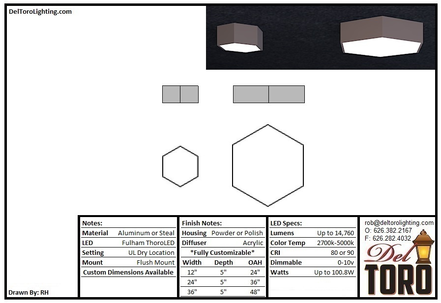 031C-Hexagon Ceiling Mount