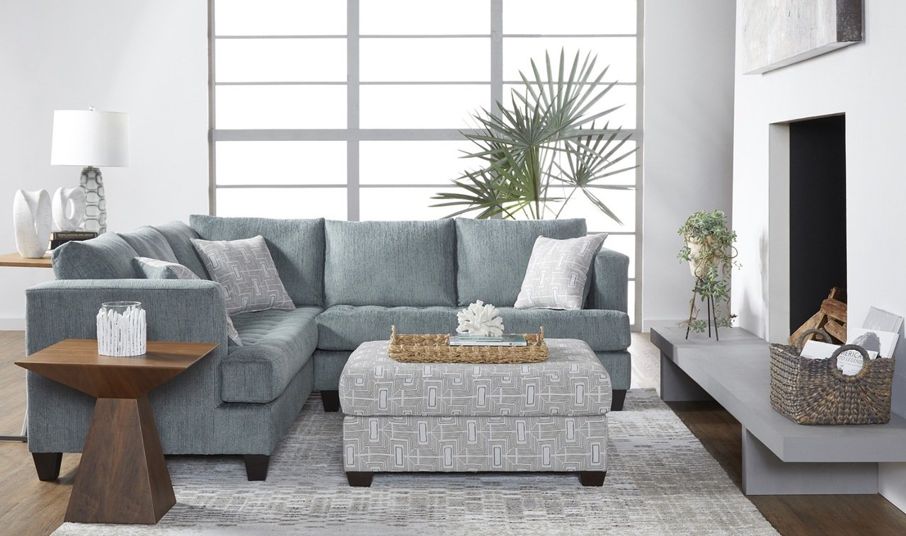 16400 Sectional Cerulean