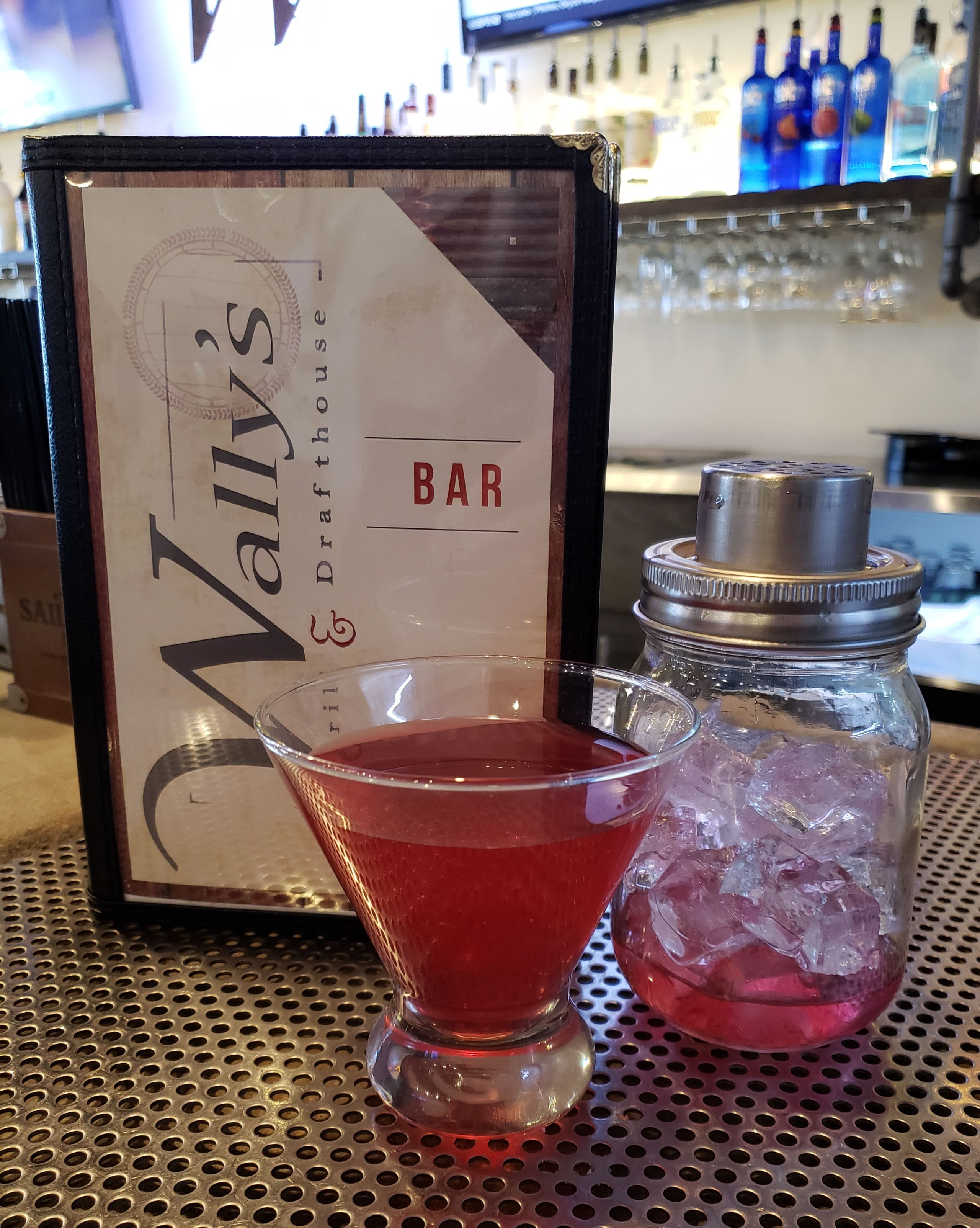Blueberry Cosmo with house-made Blueberry Infused Vodka