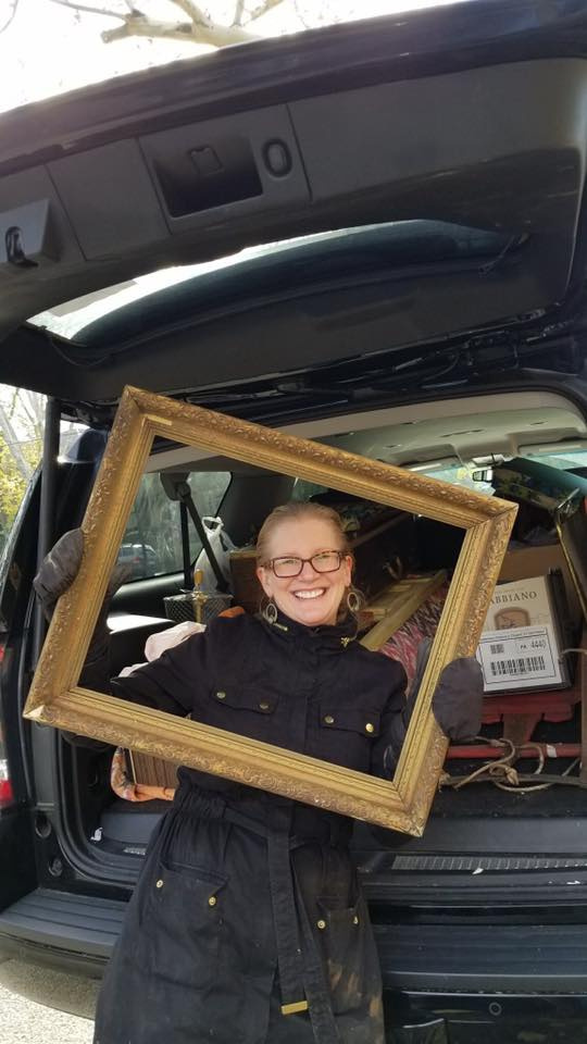Angie With Old Frame