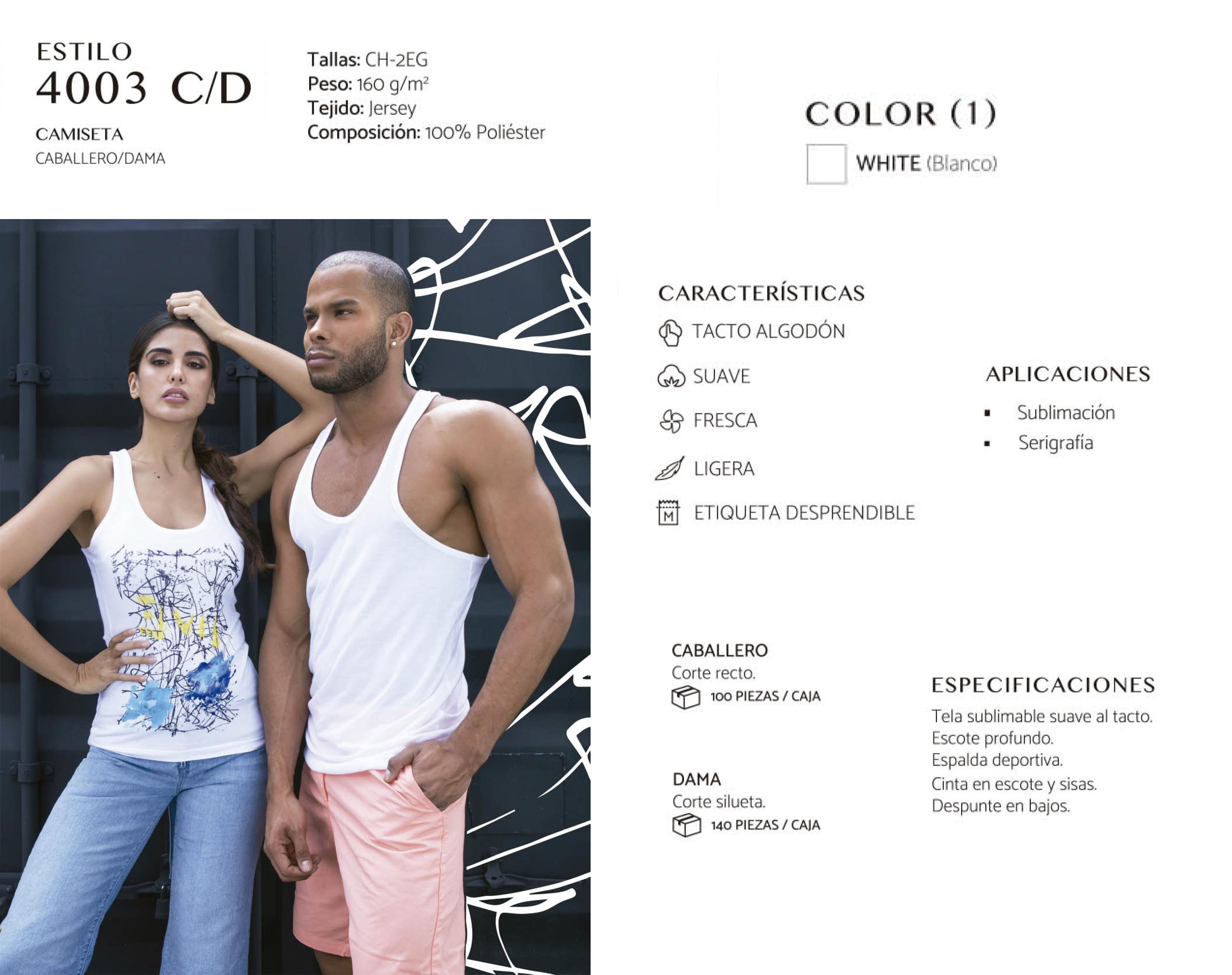 Camiseta Resaque  4003 C/D