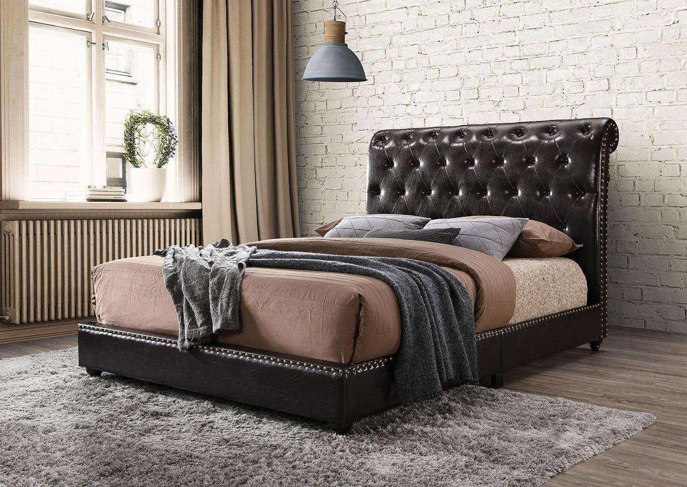 Janine Platform Bed Espresso 5104PU