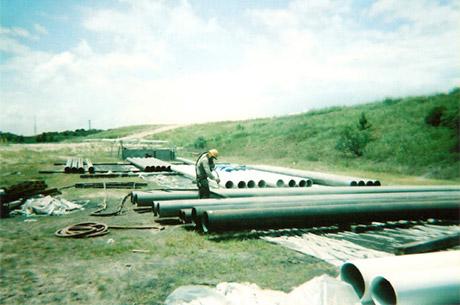 Huge industrial pipes