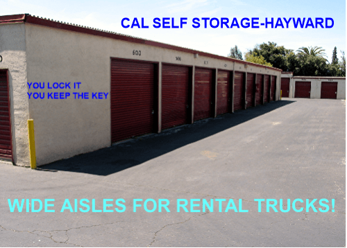 Cal Self Storage Wide driveways