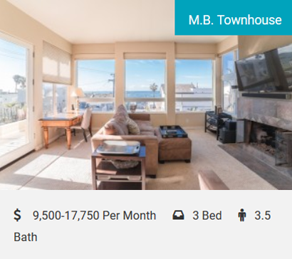 M.B. Townhouse Stunning Beach Property Beautiful Townhouse With Fantastic Ocean Views! Spacious open floor plan with air conditioning, only 1/2 a block to the beach! Live the California lifestyle in this beauty, walk to everything…