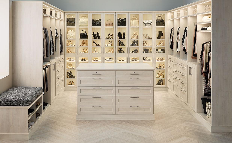 Organized Walk-In Closet