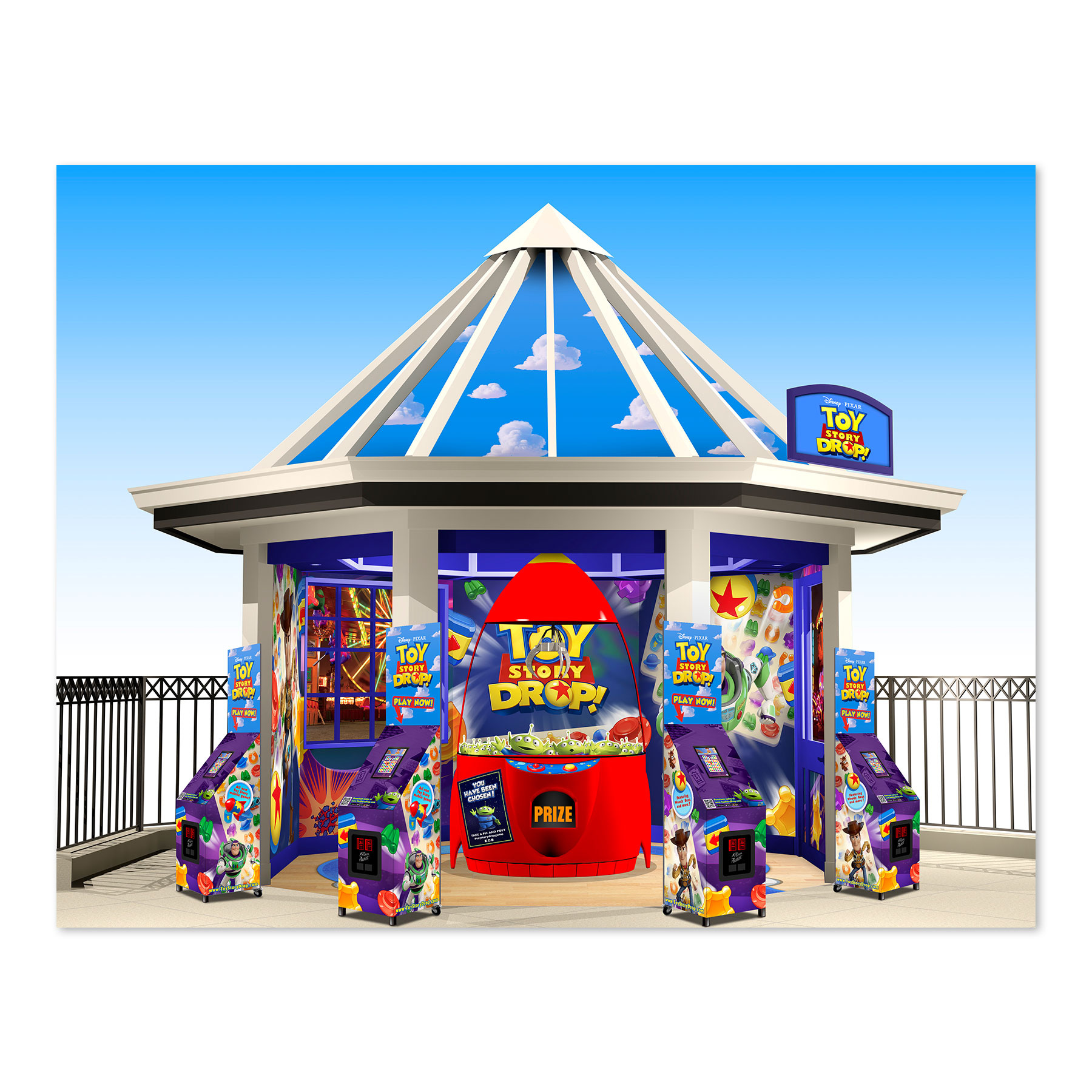 Toy Story 4 Gazebo For Toy Drop Game