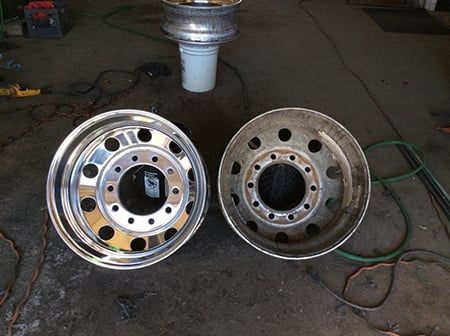Before and after rims