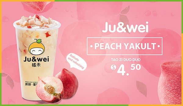 Peach Juice With Yakult