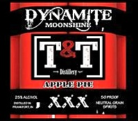 T&T Apple Pie Moonshine Made in Frankfort, IN